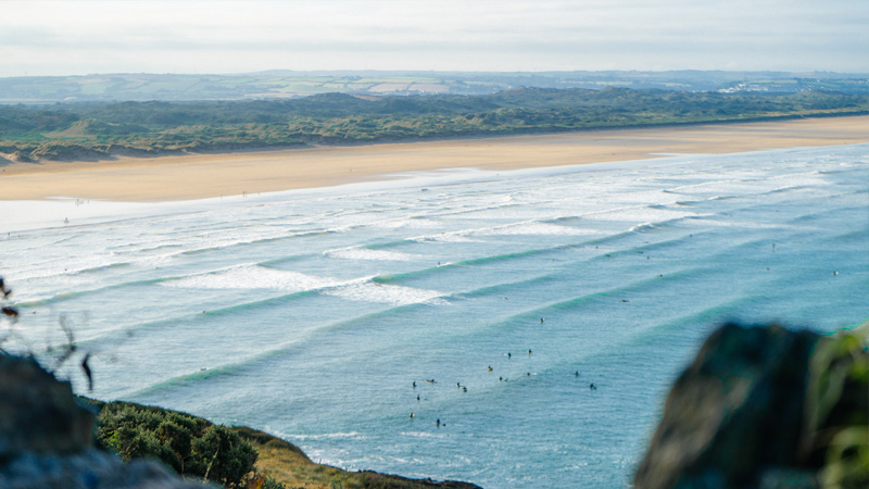 Croyde Women And Waves