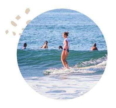 El Salvador Womens Surfing Waves