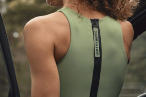 Women + Waves x H&M surf top in green with back zip